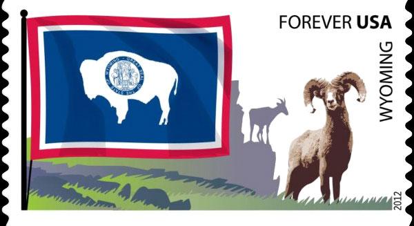 America stamps  USA, 2012 - Bisons on stamps
